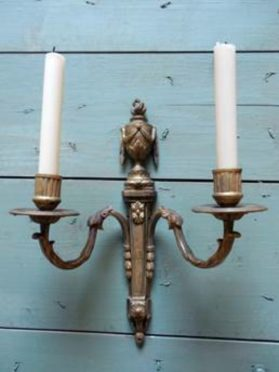 Two-candle wall sconce