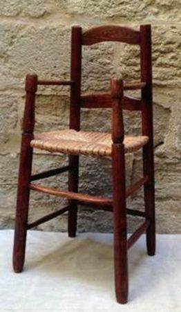 Woven seat stool