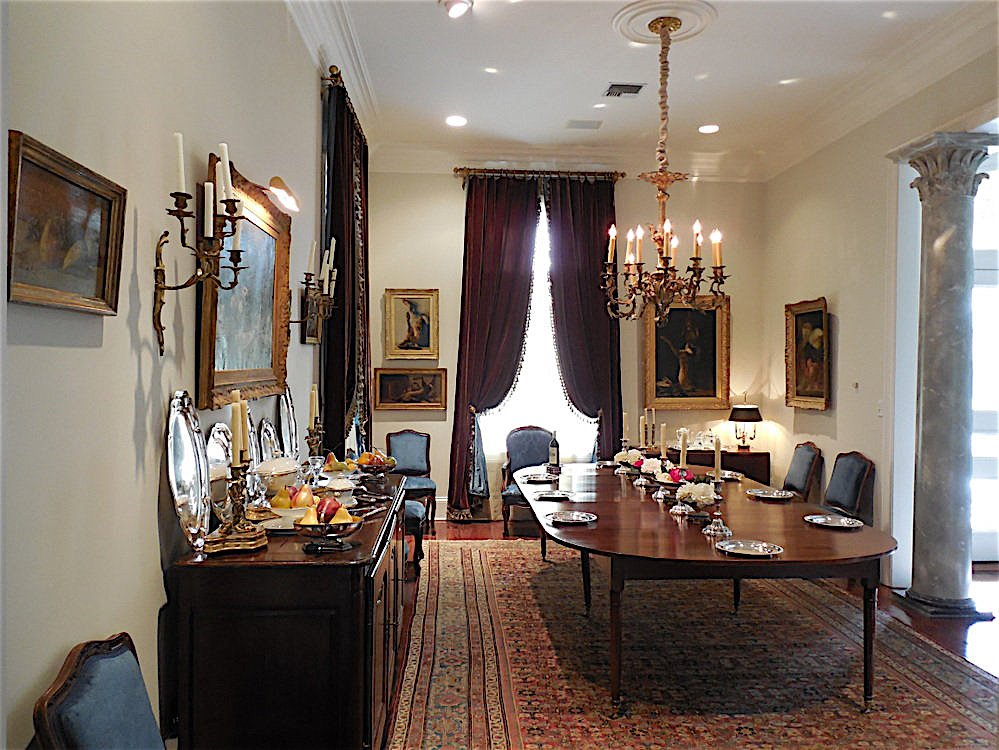 A modern home converted to a Louis XV decor - by Au Vieux Paris Antiques - dining room overview