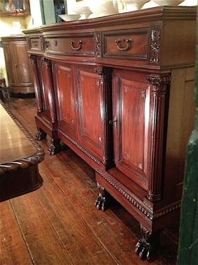 Large mahogany buffet in Empire revival style, circa 1885.
