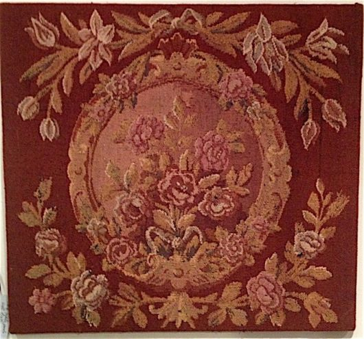 Wool tapestry panel, one of a pair, Louis XVI style circa 1880.