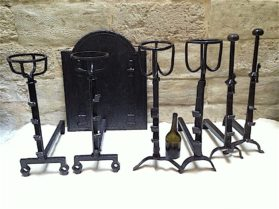 Louis XIV forged iron Pairs of Large Andirons circa 1700