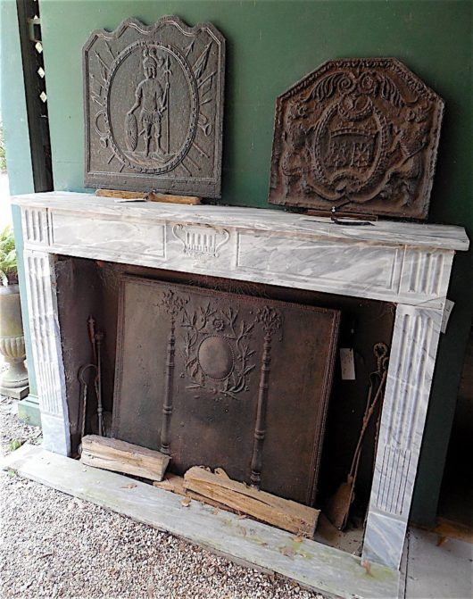 Louis XVI Blue Turkin marble Fireplace mantle circa 1790