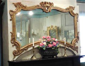 Louis XV bois dore Mirror circa 1755