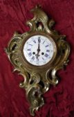 Louis XV cast bronze Cartel Clock circa 1850