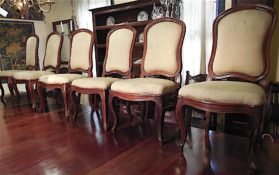 walnut 6 Large Chairs au Chassie circa 1770