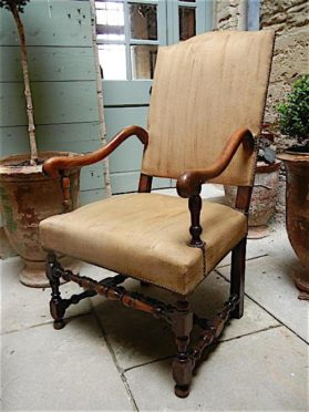 Louis XIV walnut Arm Chair circa