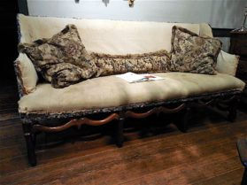 Louis XIV walnut Os de Mouton Sofa circa