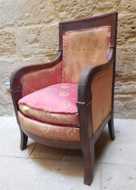 Directoire mahogony Bergere Arm Chairs circa 1795