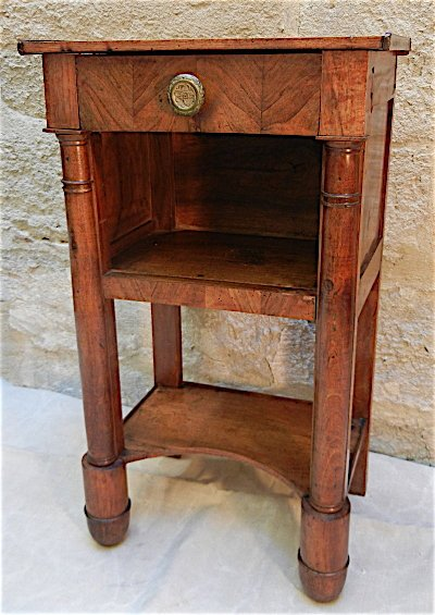 Charles X walnut Side Table circa 1825