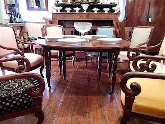 Charles X Cuban mahogony Extention Table circa 1825