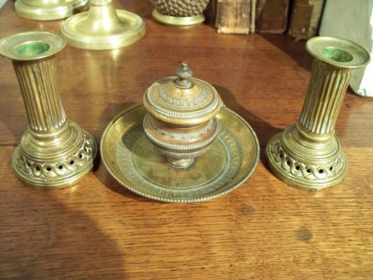 Desk set of Bronze Dore in  circa