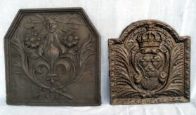 Fire Backs in cast pig iron circa 17th century