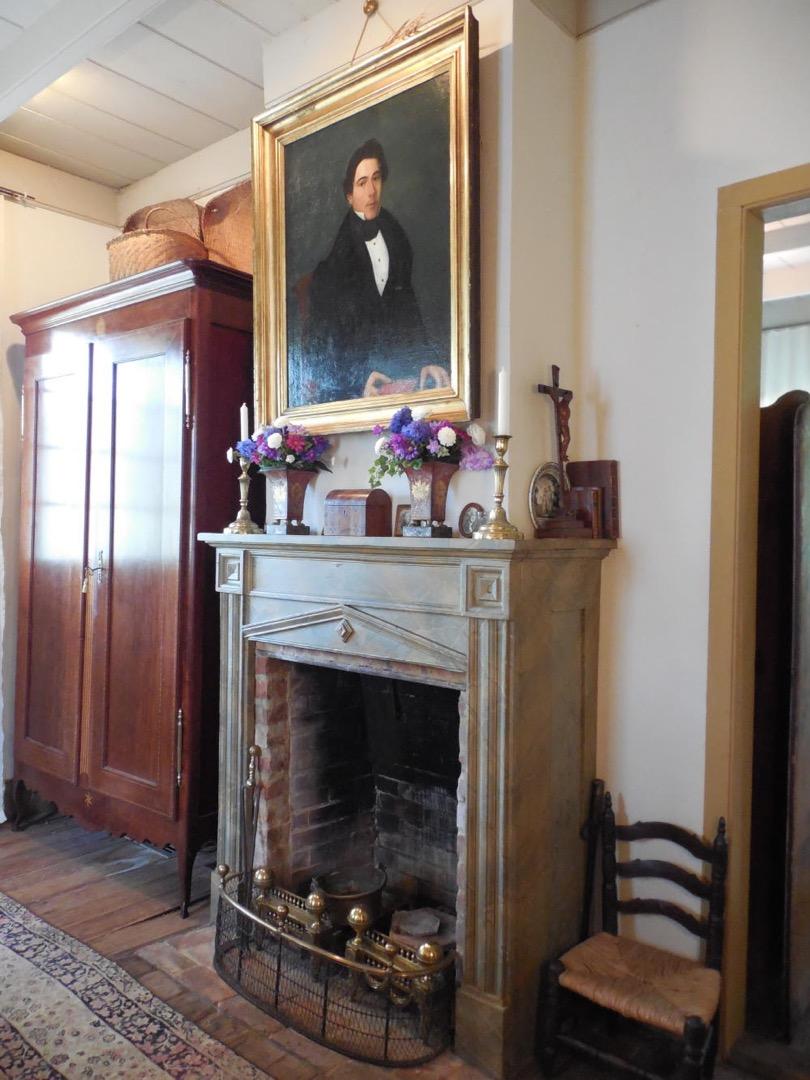 Maison Demanche Bedroom, note faux marble mantel