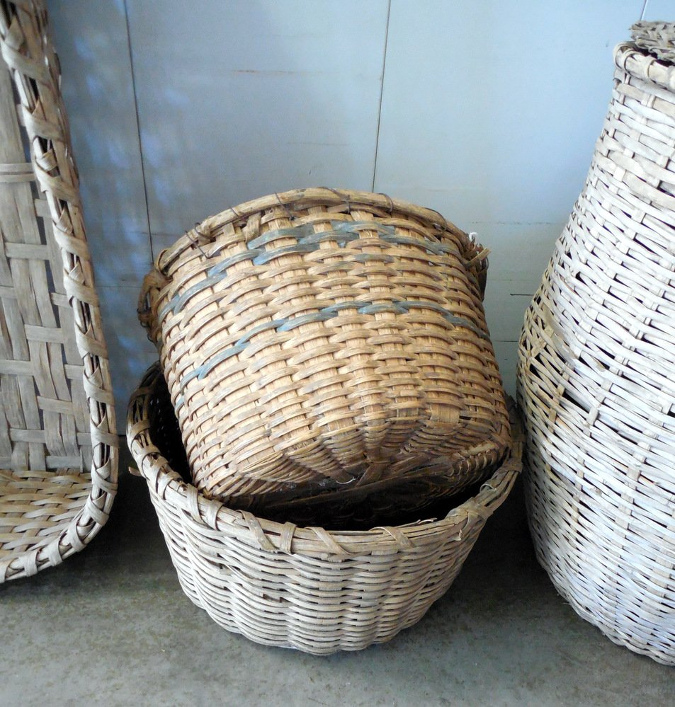 Split oak & split bamboo baskets found in south Louisiana