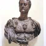 Bronze bust of Cosme lère de Médicis, 1548 by Cellini