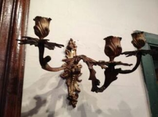 Three-candle wall sconce