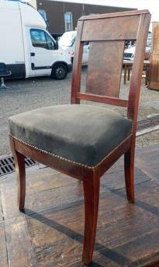 Set of 6 panel-back chairs