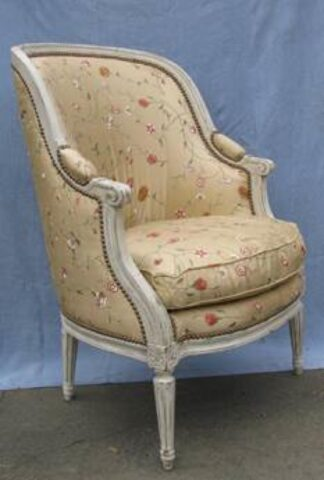 Flower print tub chair