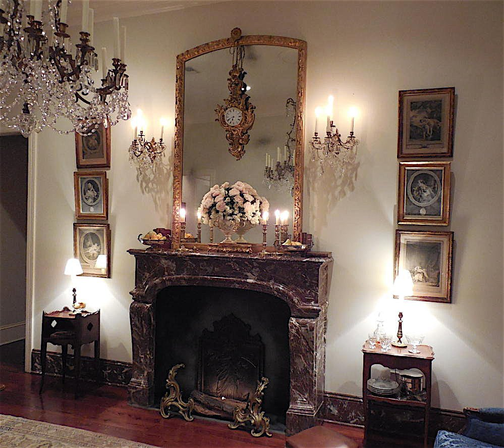 A modern home converted to a Louis XV decor - by Au Vieux Paris Antiques - fireplace closeup