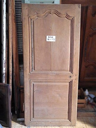 Louis XV oak Door circa 1750 probably from the Burgundy region.