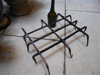 Hand forged iron window guard circa 18th century.