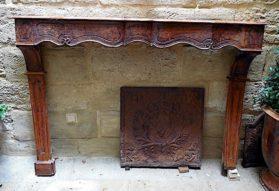 Louis XV walnut Fireplace Mantle circa 1750
