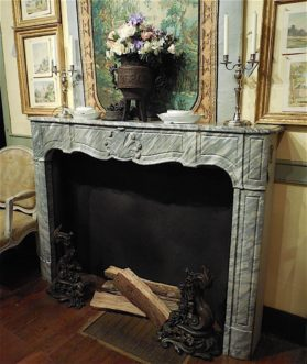 Louis XV King of Prussa marble Fireplace Chimney circa 1760