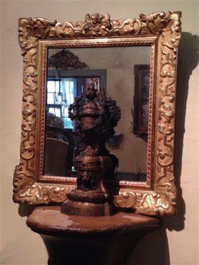Louis XV bois dore Mirror circa late 18th century
