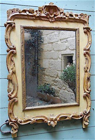 Louis XV bois dore et piente Mirror circa 1770