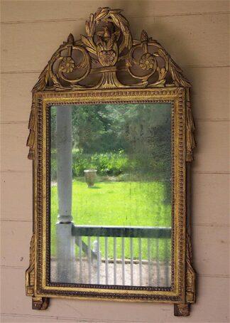Louis XVI bois dore Mirror circa 1790