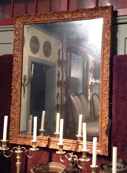 Louis XV bois dore Mirror circa 1890