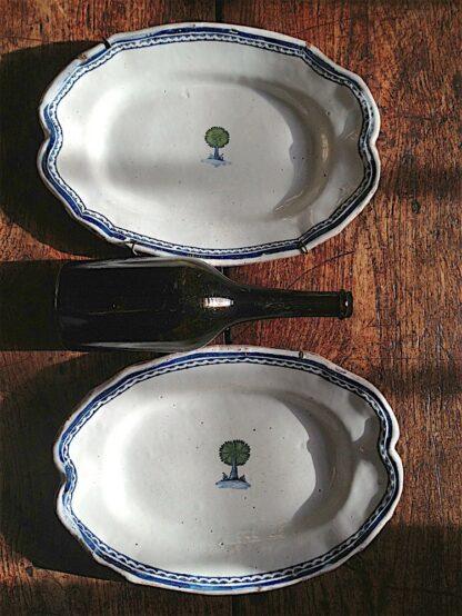 Revolutionaire faience Platters circa 1789