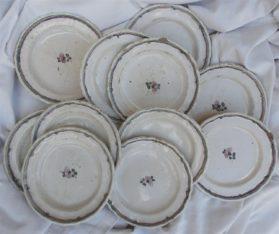 Louis XVI faience Set of Faience Plates circa 1780