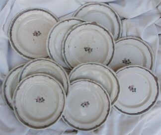 Louis XVI faience Set of Faience Plates circa 1780
