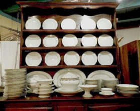 Old Paris porcelain Large Dinner Set circa