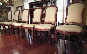 walnut 6 Large Chairs au Chassie circa 1770