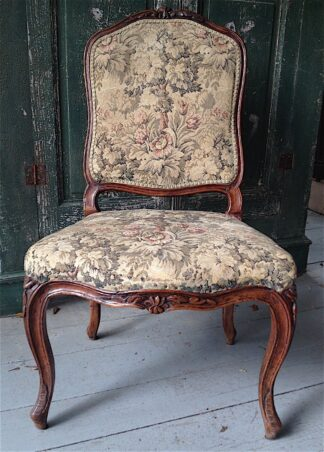 Louis XV walnut Side Chair circa 1755