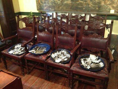 Rennaisannce revival mahogony Set of 12 Chairs circa 1890