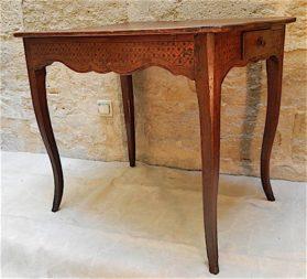 Louis XV oak|leather Occasional Table circa 1780