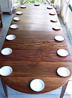 Directoire walnut|brass Banquet Dinning Table circa 1795