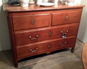 transitional Louis XV-XVI 4 Drawer Commode in  circa