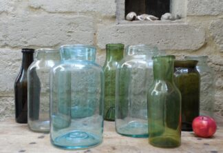 18th & 19th century mouth blown French storage jars