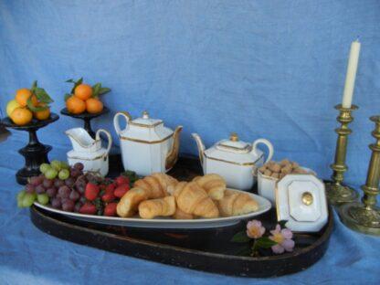 Porcelain breakfast tray items