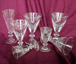 Handmade v-panel cut stemware