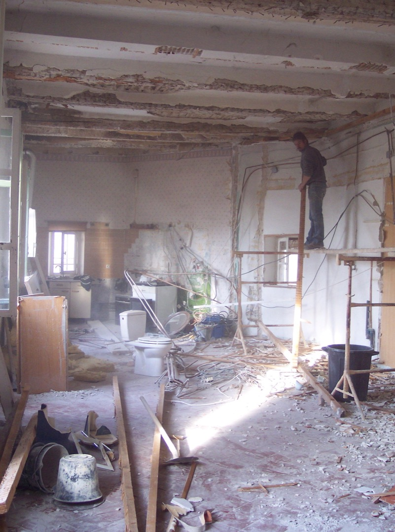 Bedroom after demolition