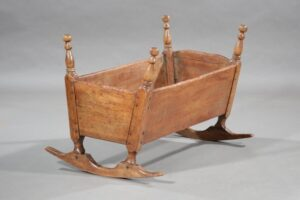 18th century Canadian cradle found in Baton Rouge.