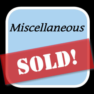 Sold Misc