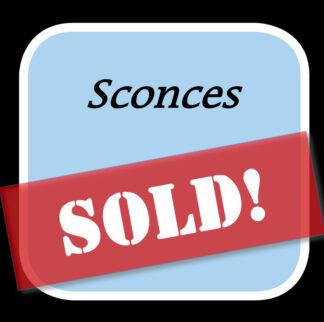Sold Sconces